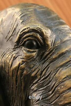 Vintage Grand Bronze Éléphant Sculpture Par A. Barye Beau Pièce Figurine Art