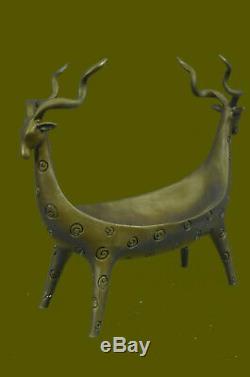 Vintage Indo Perse Bronze Ouvert Navire Suspendu Pot ou Censeur sans Réserve Art
