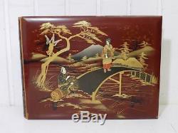 Vintage Rare Art Nouveau Album Photos Japon Peinture sur Soie Jambe Asiatique