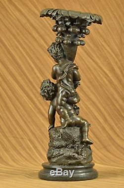 Vintage Style Art Nouveau Français Bronze Sculpture Figurine Fonte Maison Cadeau