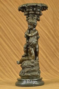Vintage Style Art Nouveau Français Bronze Sculpture Putti Fonte Figurine Maison