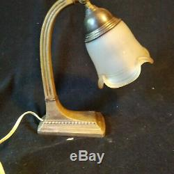 Vintage art nouveau art deco table lamp