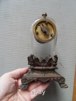 Vintage art nouveau clock uhr pendule horloge JUNGHANS a decor aigle imperial