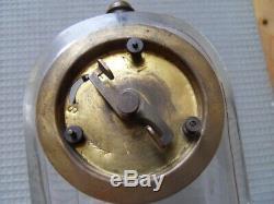 Vintage art nouveau clock uhr pendule horloge pendulette voyage JUNGHANS