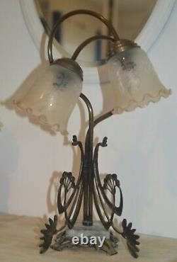 Vintage art nouveau lampe de table art deco table lamp