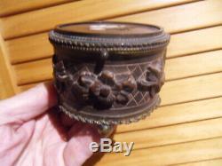 Vintage jewelry box boite bijoux montre Napoleon III signé DUPUIS decor nacre