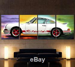 XXL Pop Art Porsche 911 Carrera Rs Toile Image Images Vintage Déco Classique