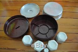 Yaourtière Bakelite YALACTA 4 complète Original Yoghurt Maker Vintage Retro 1930